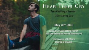 Hear Their Cry (Teen Challenge Gala) @ The Killington Grand Resort Hotel | Killington | Vermont | United States